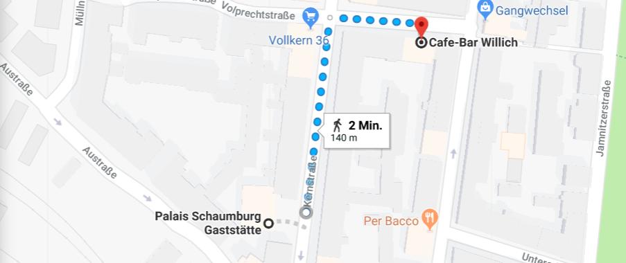 Vom Salon Regin bis Palais Schaumburg in Gostenhof ist es nicht weit.