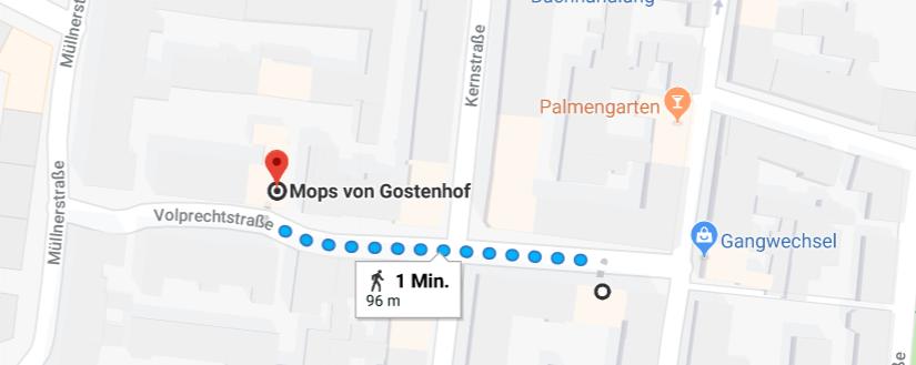 Das Willrich ist eine tolle Bar in Gostenhof und nicht weit vom Mops von Gostenhof entfernt.