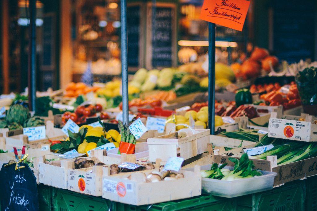 Es gibt verschiedene Wochenmärkte in Nürnberg.