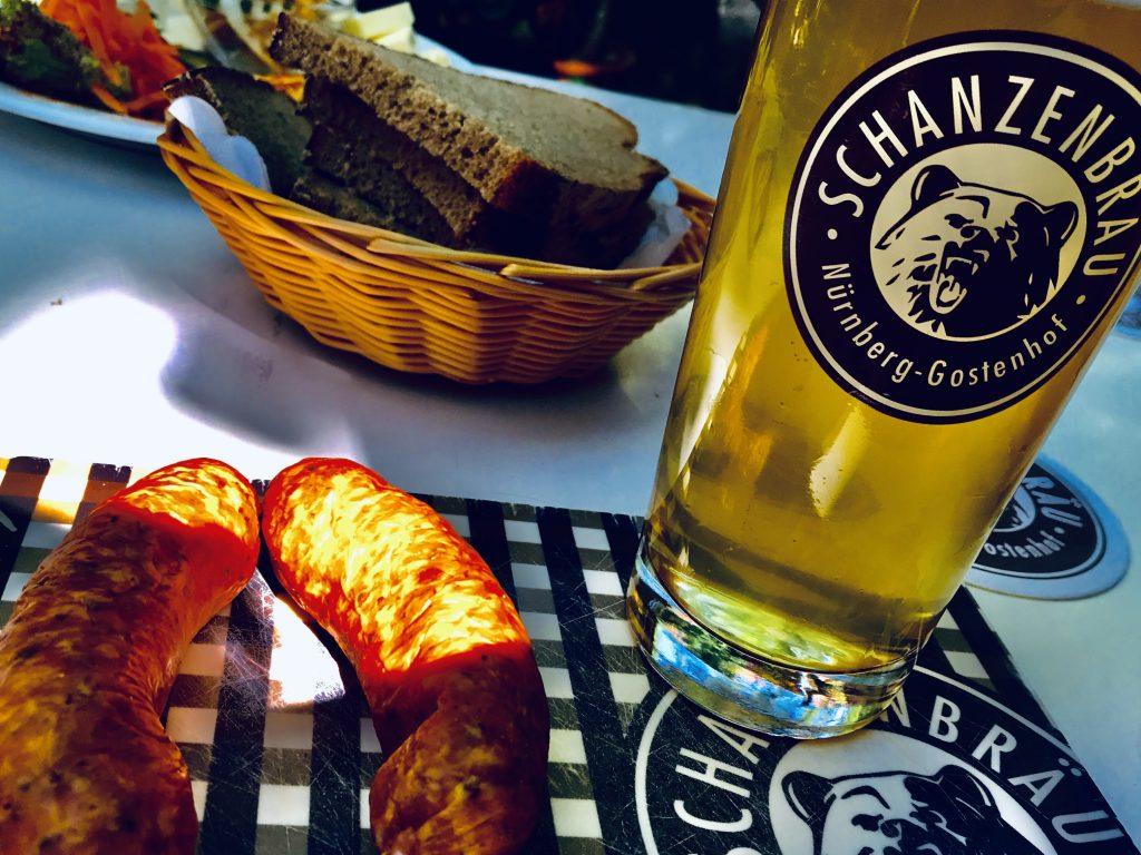 Der Schanzenbräu Biergarten ist wirklich schön.