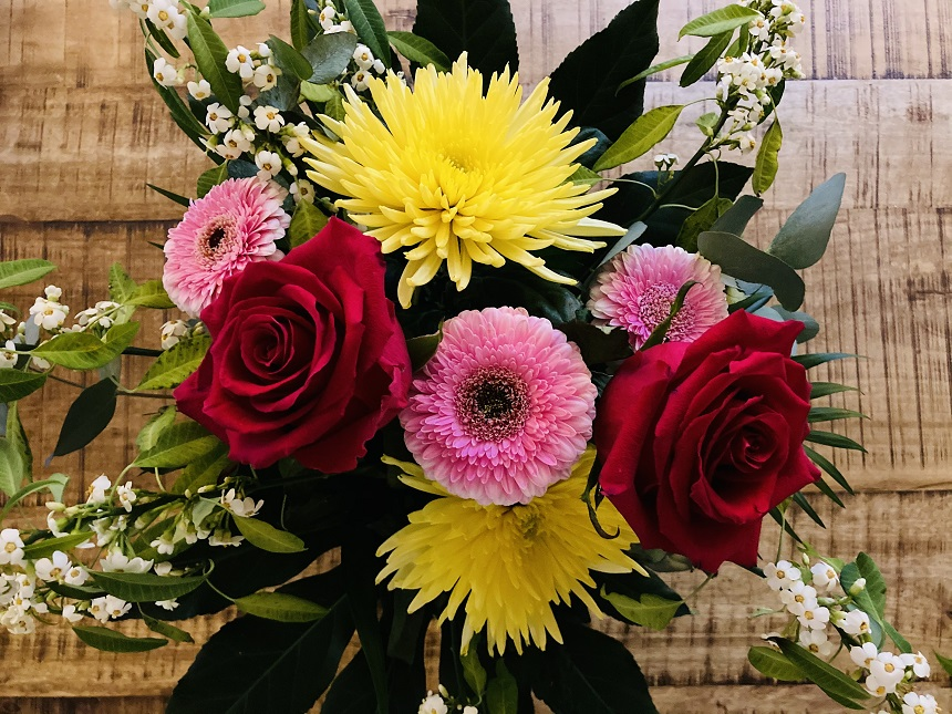 Blumen kann man auch lokal in Nürnberg kaufen.