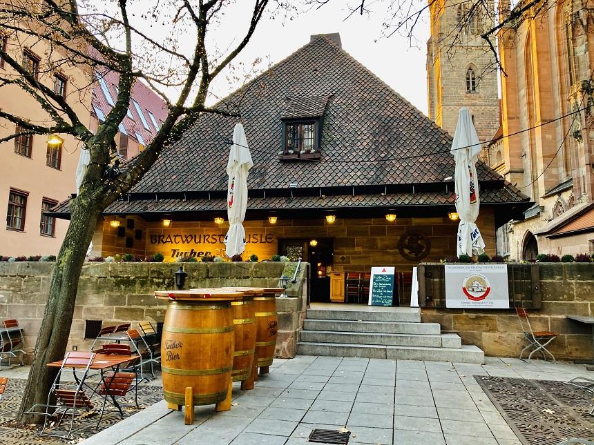 Bratwurst Röslein in Nürnberg.