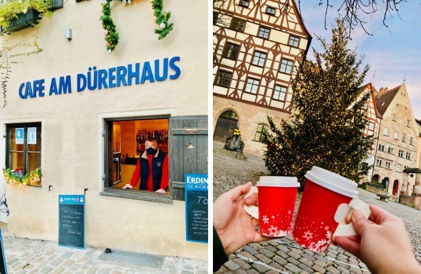 Glühwein gibt es auch am Tiergärtnertorplatz in Nürnberg.