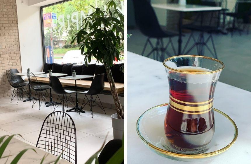 Im neuen Café P-Block in Nürnberg gibt es türkische Spezialitäten.