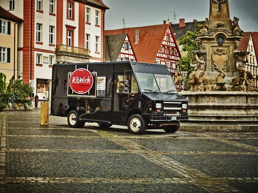 Der Food Truck Ribwich aus Nürnberg war der erste in Deutschland.