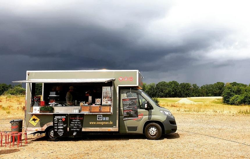 Der Swagman Food Truck hat Kartoffelstampf.