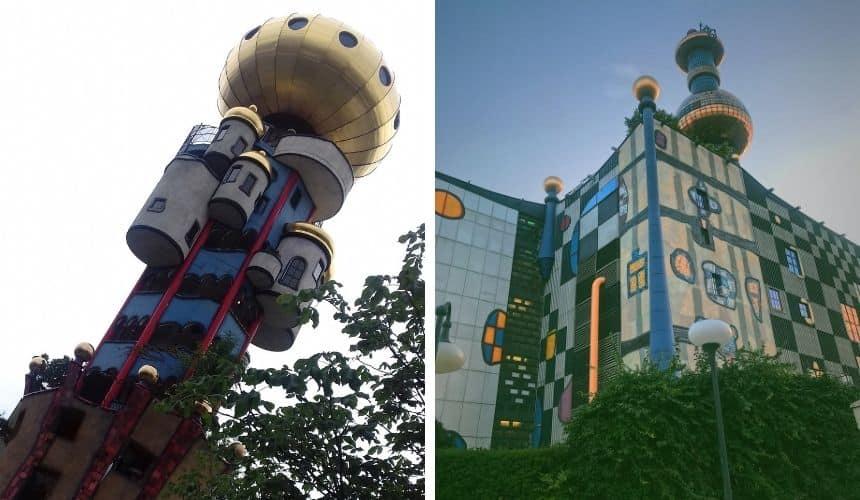 Hundertwasser war in Wien und Bayern.