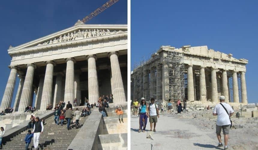 Die Walhalla schaut ähnlich aus wie die Akropolis.