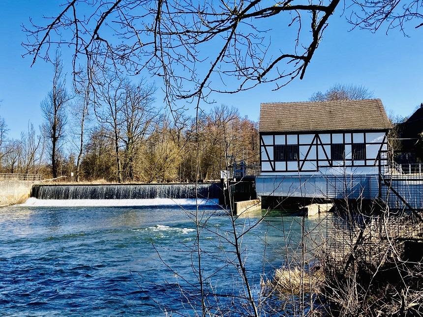 Das Wasserwerk der Energie erzeugt Ökostrom.