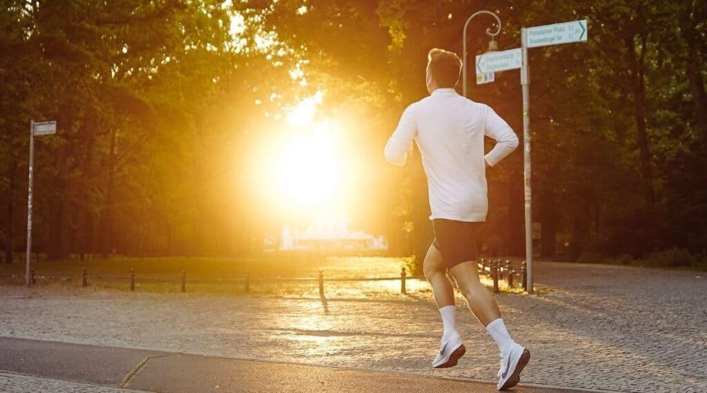 Ein Läufer in Nürnberg.