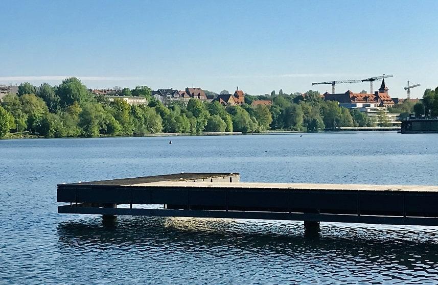 Der Wöhrder See in Nürnberg.