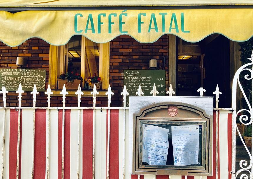 Das Café Fatal in St. Johannis in Nürnberg.