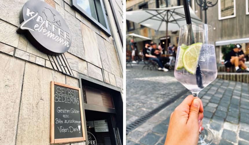 Das Café Lebemann in der Altstadt von Nürnberg.