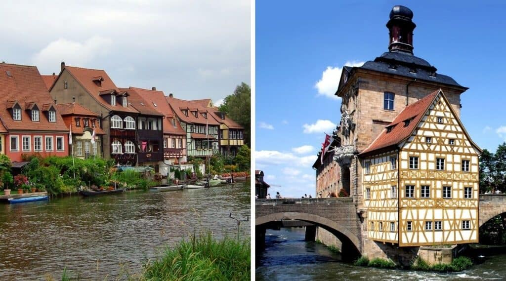 Bamberg liegt in Franken und erinnert an Rom.