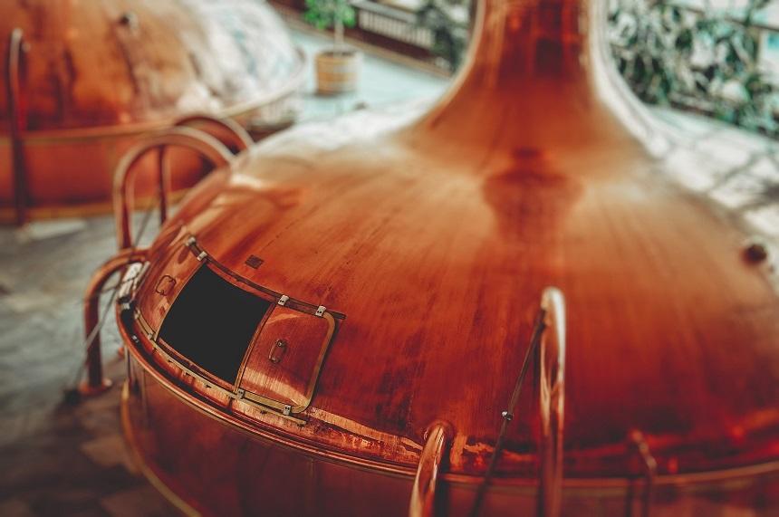 Ein Bierkessel aus Kupfer in Forchheim.